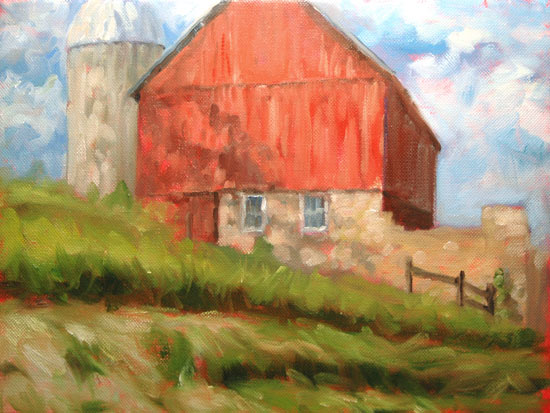 One Hundred Paintings One Hundred Days 108 Red Barn